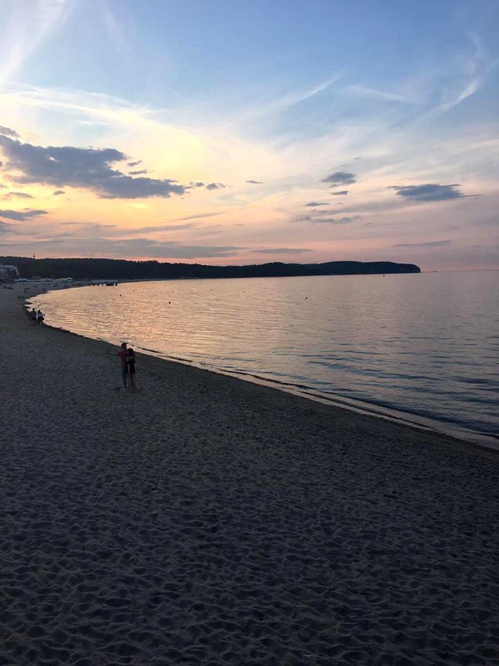 Zatoka Sopot zachód Słońca thosetwocando.com